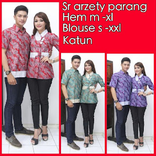 Model baju batik pasangan sarimbit