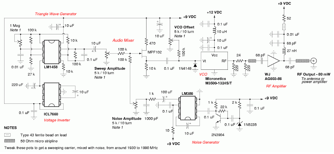 Cell phone jammer circuit for project , fm jammer circuit for project