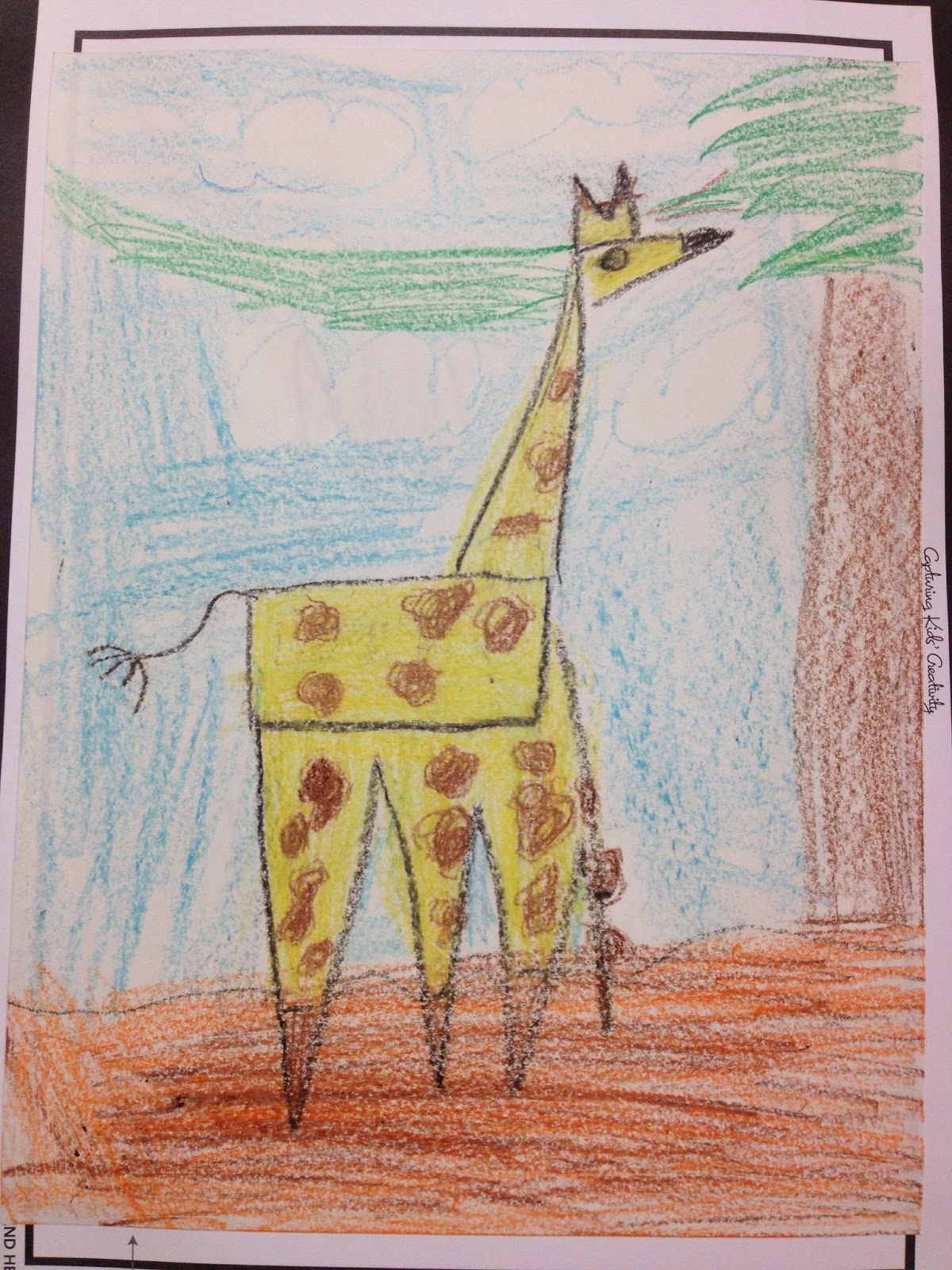 Sparkly Art With Ms Carney Shape Giraffes Kindergarten