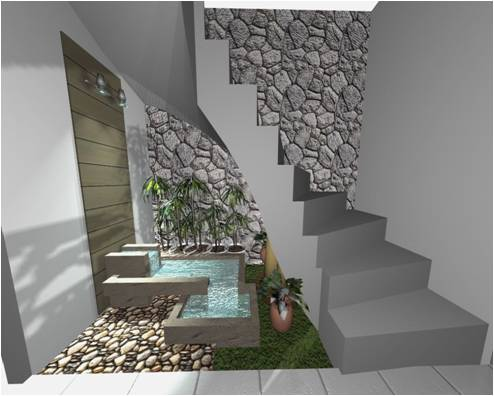 Dise os de interior yetzy villasmil for Medio bano bajo escalera