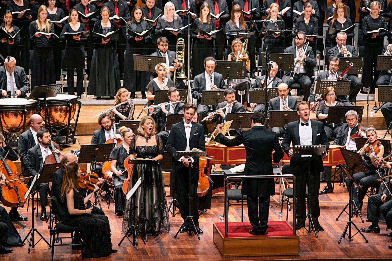 Miah Persson, Ian Bostridge, Duncan Rock, Sascha Goetzel, Salzburg Bach Choir, Borusan Istanbul Philharmonic Orchestra - Borusan Istanbul Filarmoni Orkestrasi - Photograph Ozge Balkan