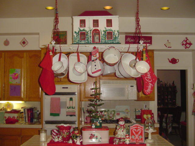 kitchen decor on christmas