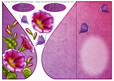 http://www.craftsuprint.com/card-making/folded-cards/tear-drop-female/pink-petunia-and-butterflies-teardrop-card-1.cfm