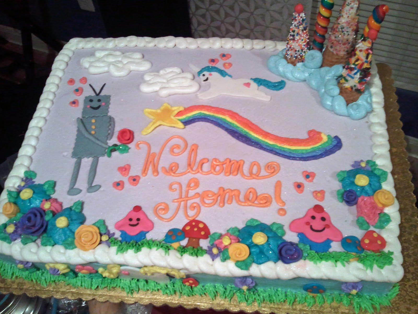 charlie the unicorn candy mountain cake