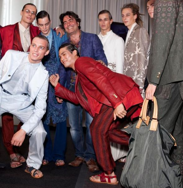 Designer Etro with his male models