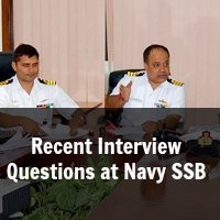 Recent Interview Questions at Navy SSB