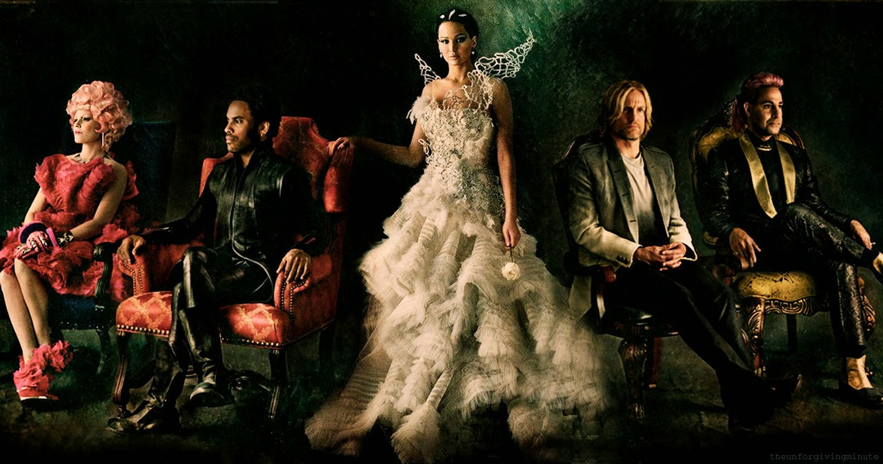 Hunger Games 2 Catching Fire Katniss Effie Cinna Haymitch Caesar