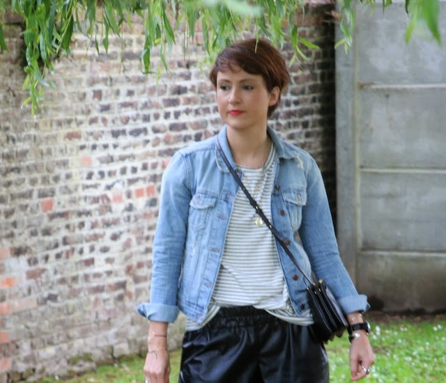 zara, sheinside, short cuir, trio bag, celine, juste juliette, stan smith, adidas, fashion blogger, blog mode lille