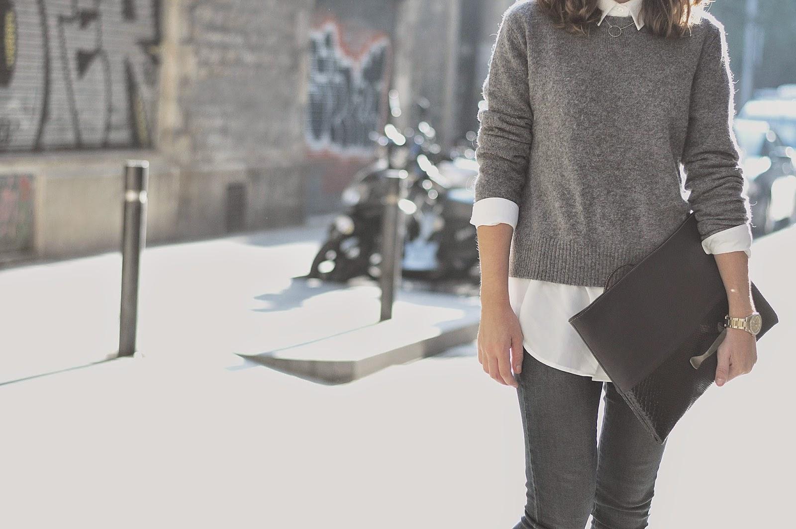 jeans, jersey, tacones Mango, bolso Málcies de Chicplace