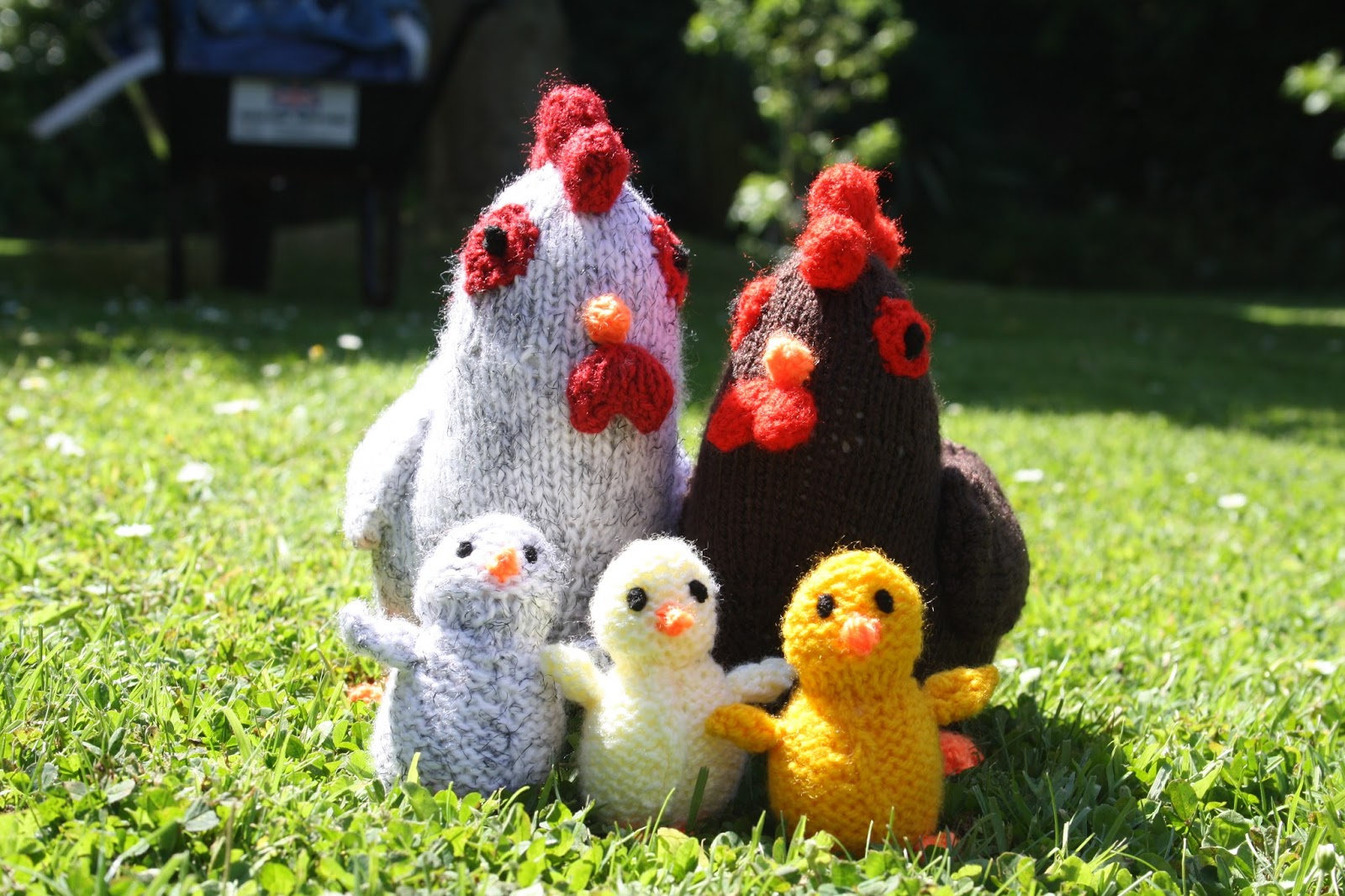 Clicks Clan: Knitted Chicken Family