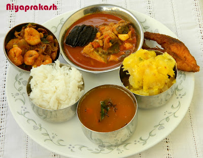 Photo & Recipe links of Homemade Seafood Thali