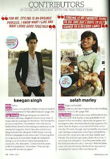 selahm >Selah Marley fille de Lauryn Hill pour Teen Vogue