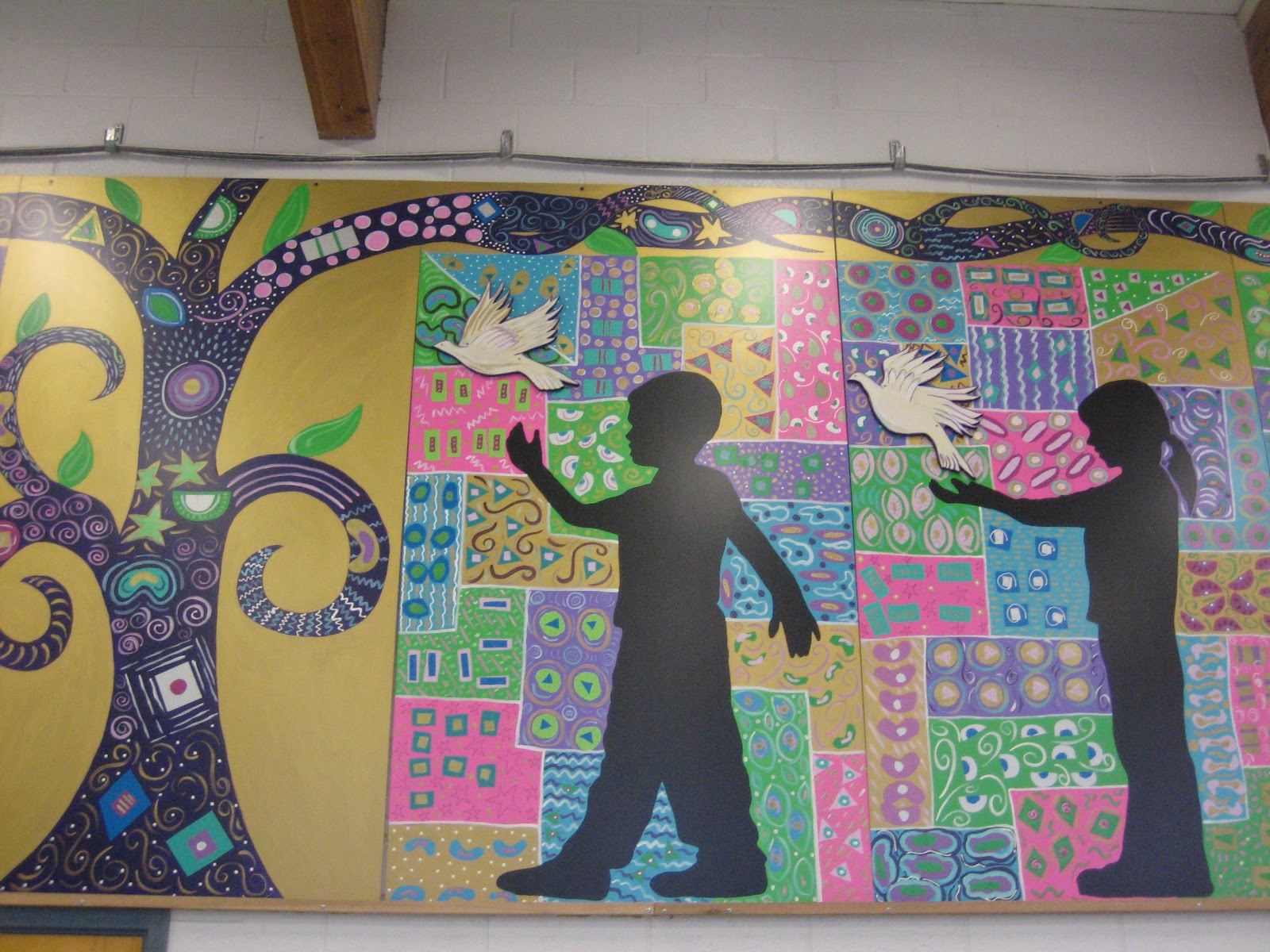 Do art gustav klimt mural for Community mural ideas