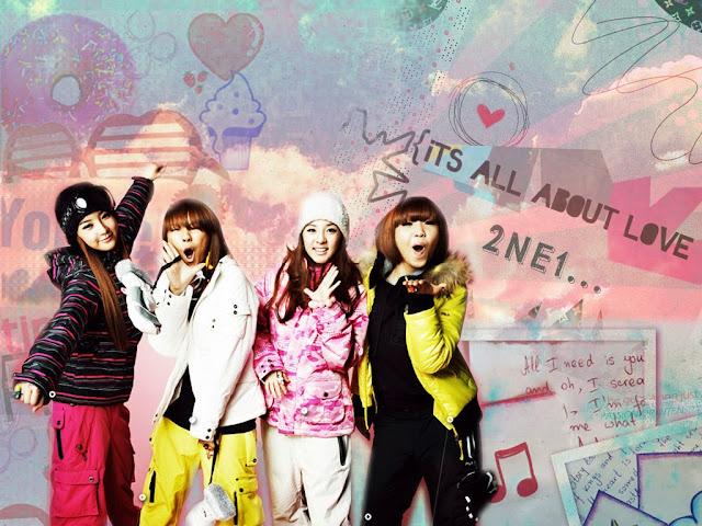 Wallpaper 2NE1 1024x768