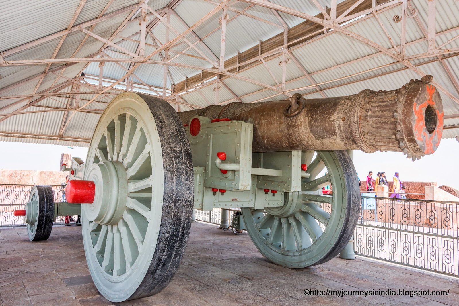 Giant Cannon Jaivana at Jaigarh Fort Jaipur