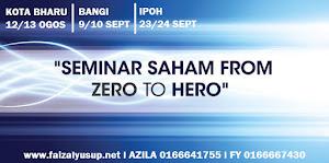 SEMINAR SAHAM FROM ZERO TO HERO