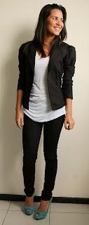 Sieht für den Tag zu Tag - Basic Jeans und Bluse
