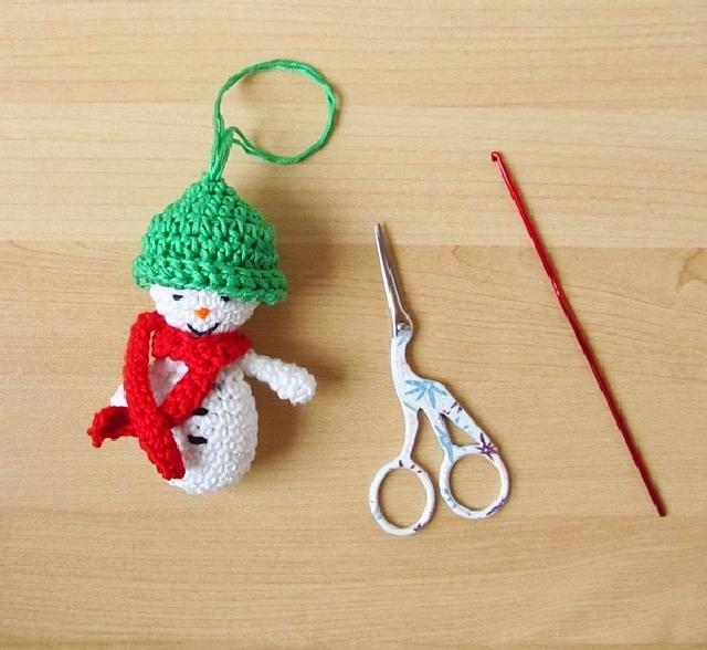 Amigurumi Santa & Snowman Ornaments for She Knows - Little ...