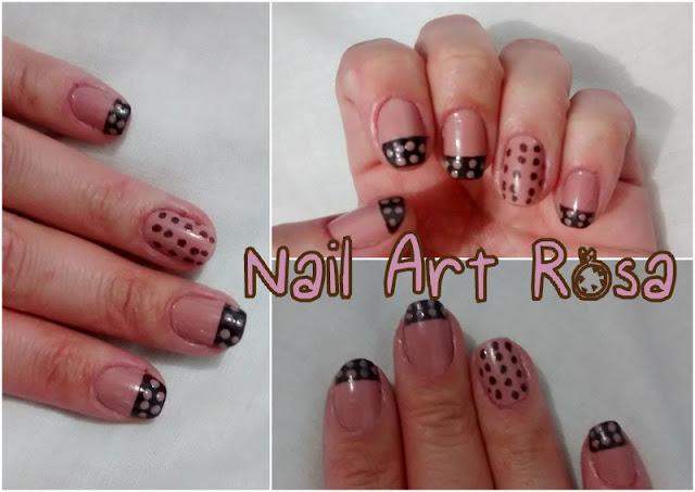 Nail Art Rosa Bolinhas