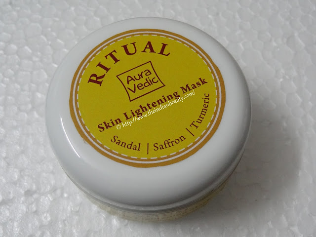 aura vedic ritual skin lightening mask