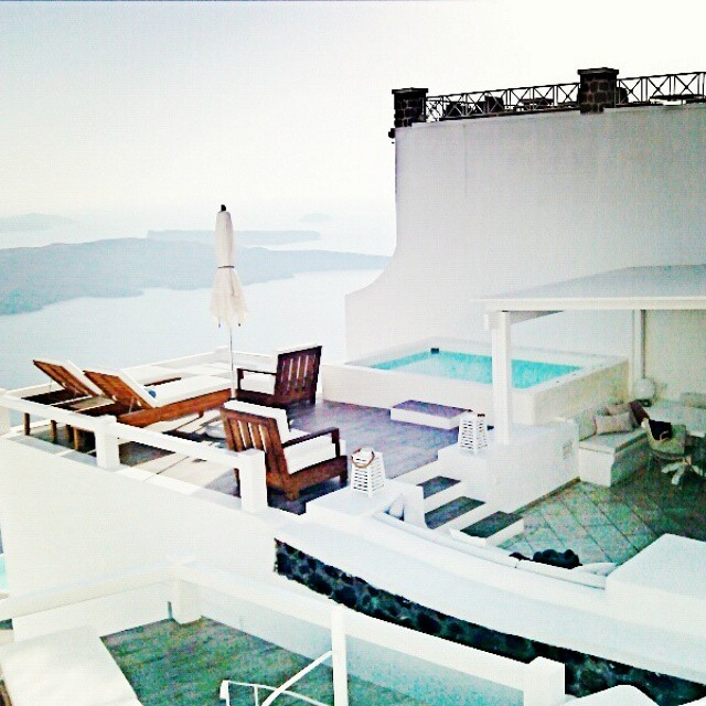 Santorini Instagram @lelazivanovic. Aqua luxury suites, executive suite.