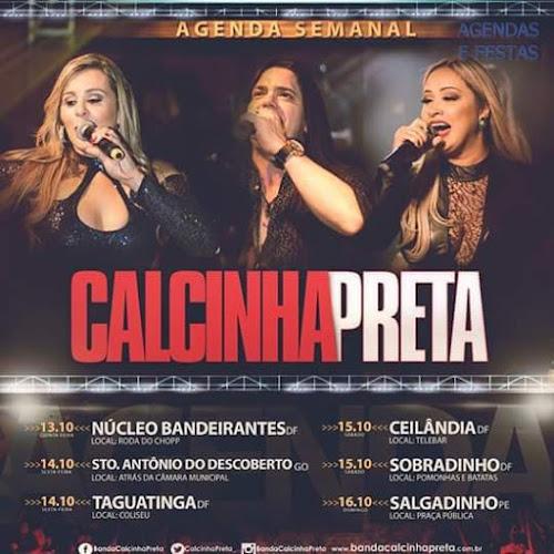 AGENDA DE OUTUBRO DA CALCINHA PRETA SEMANAL 2016