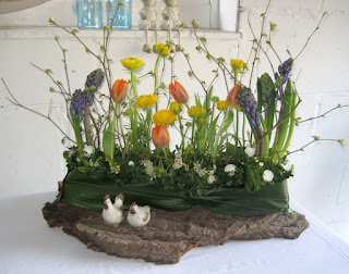 Bloemschikken Voorjaar & Pasen - Tafelstuk 3