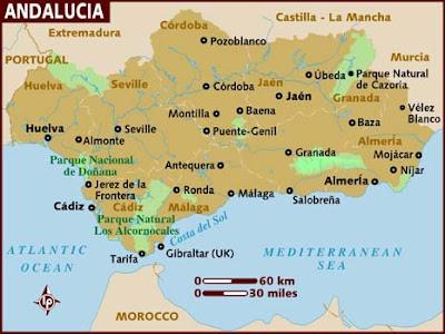 Andalucía Región del Mapa