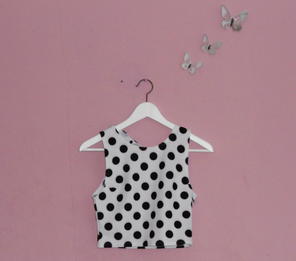Summer Fashion Haul New Yorker Polka Dot Crop Top