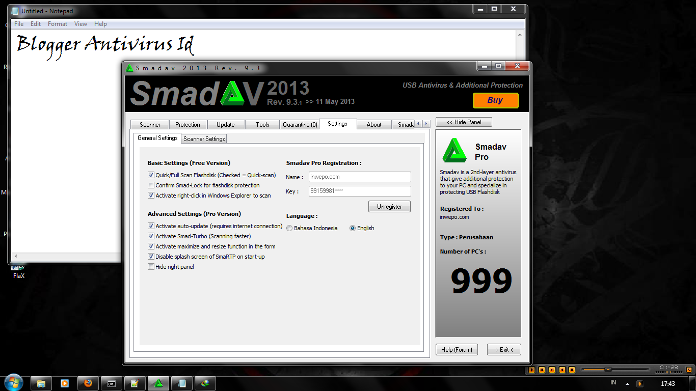 Download Serial Key Smadav Rev 9.3.1 Pro