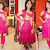 Sleeve Less Pink Net Salwar Kameez