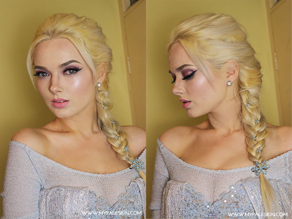 Elsa, Frozen, Queen Elsa, Costume, Make Up, How to, Cosplay, Elsa Costume, Pale Skin, Elsa Dress, Elsa Make up, Elsa Hair, My Pale Skin,