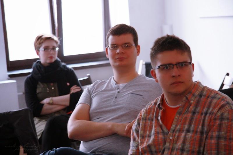 mezczyzni, kobieta, publiczonosc urodzinowe spotkanie Geek Girls Carrots Łódź