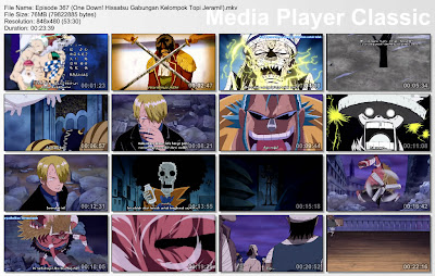 Download Film One Piece Episode 367 (One Down! Hissatsu Gabungan Kelompok Topi Jerami!) Bahasa Indonesia