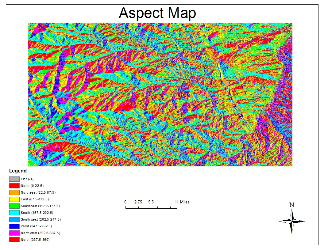 in this exercise we were given preset data of a dem first i created a shaded relief model by adding a color ramp to my grey scale relief model
