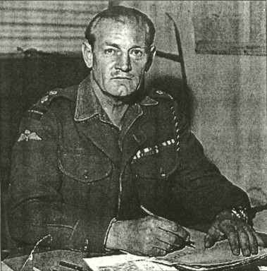 A portrait of Lt. Col. John Churchill in uniform