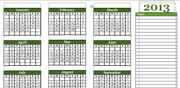 Download Kalender 2013 Berbagai Format