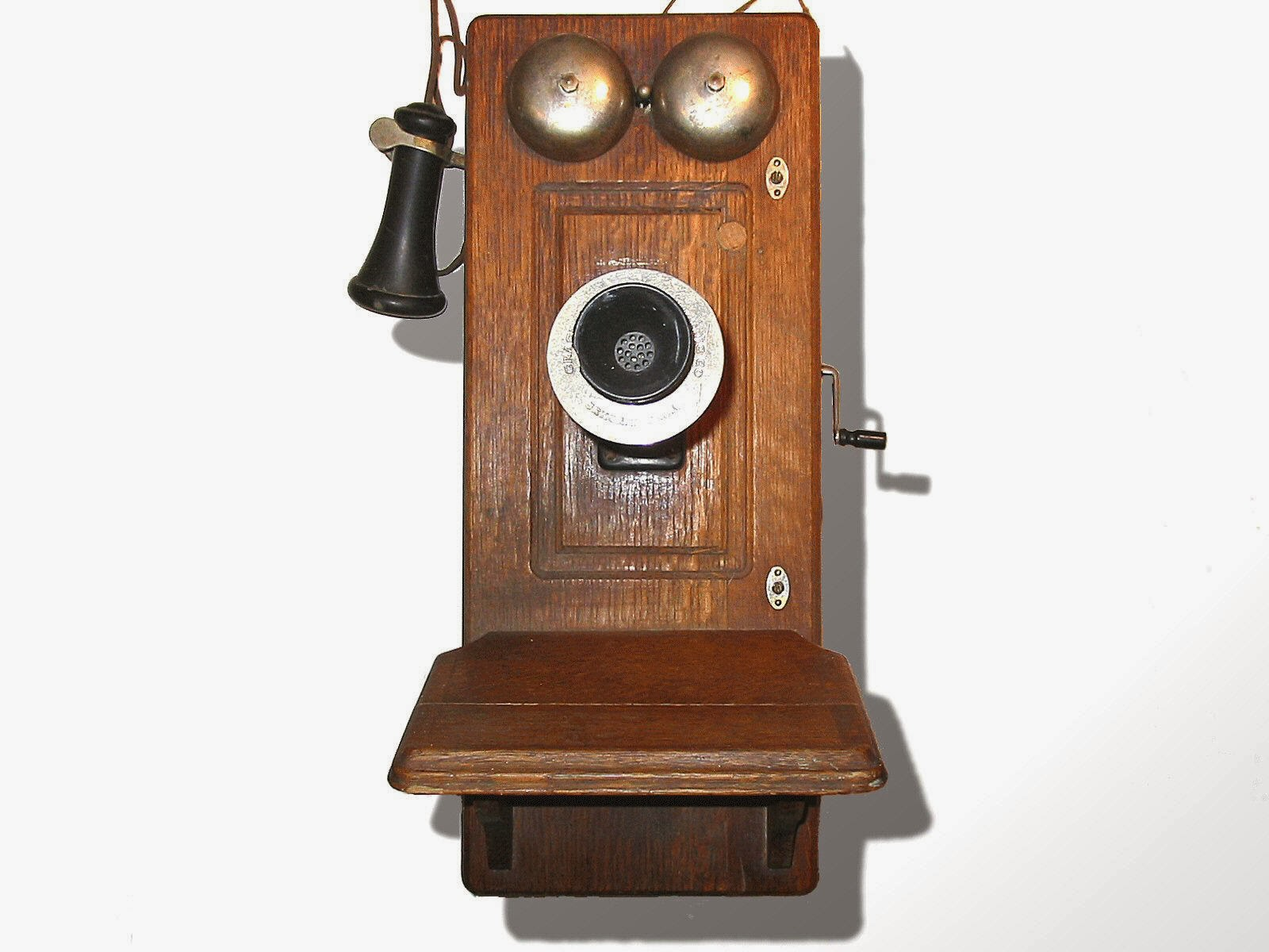 Picture of an Old Wall Phone