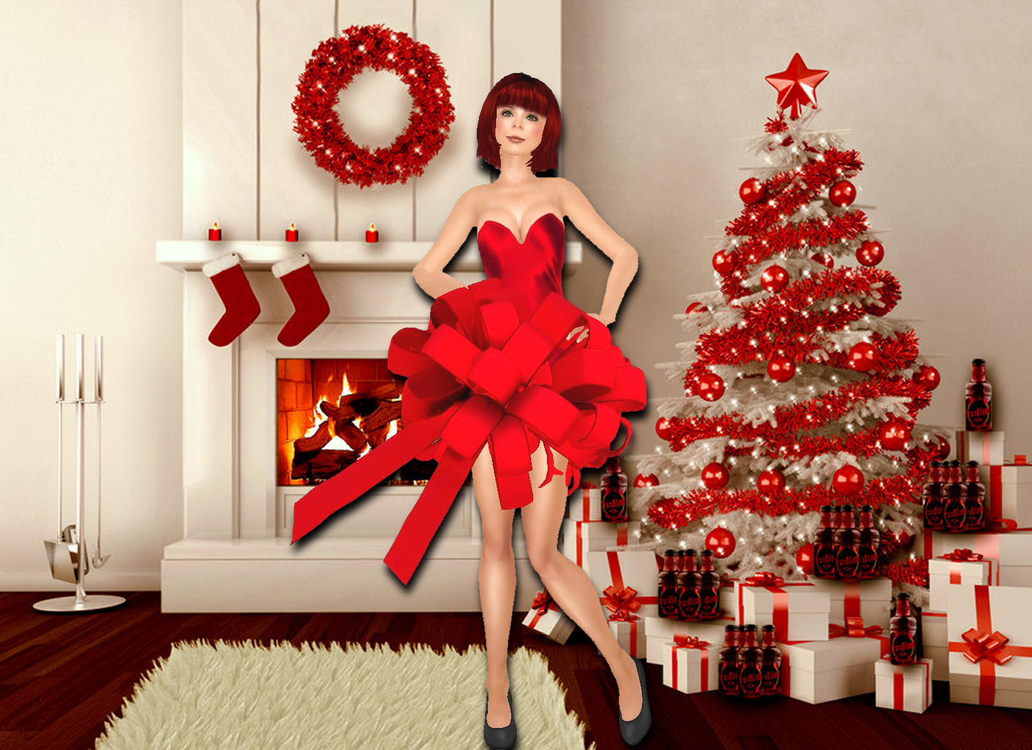 i got 3 of those presents but the best thing is the great my ribbon dress 250 l i adore it thank you so much santa and vita