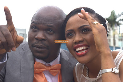 lanre omiyinka white wedding photos