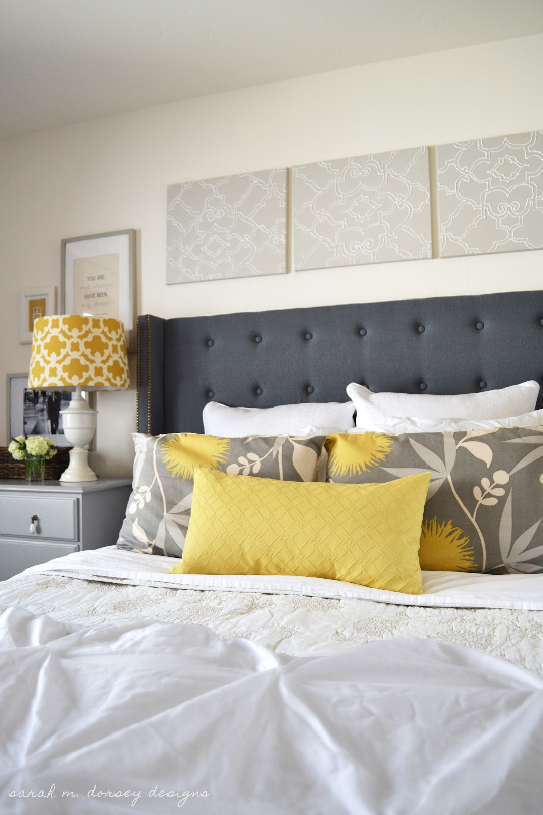 danielle oakey interiors: DIY Tufted Headboard with Wings and ...