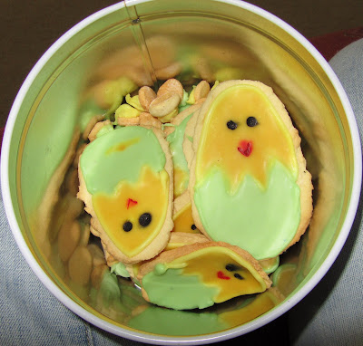 biscuits, easter, chicks, eggs, icing