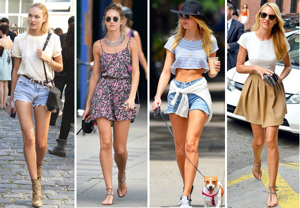 ... and Ruffles: Get the Style: Candice Swanepoel Summer Street Style