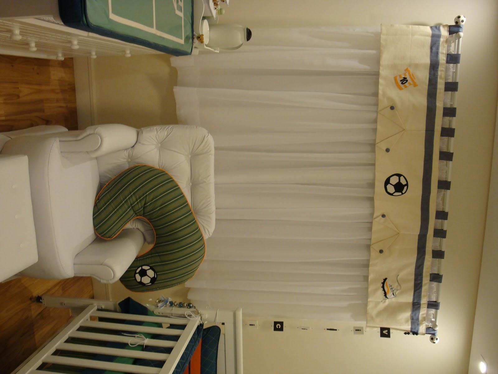 Vivian Lulai Decoração com tema Futebol para quarto de Bebê