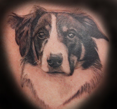 Border Collie Tattoo
