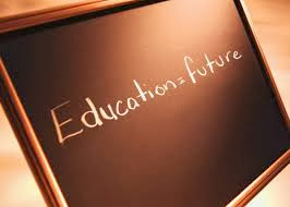 picture of a chalk board that says education equals future