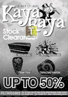 Floristika Kaya Raya Stock Clearance 2013