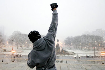 rocky movie running training