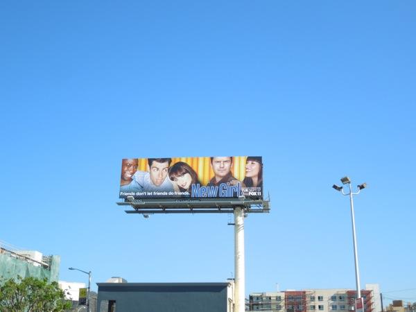 New Girl season 3 billboard