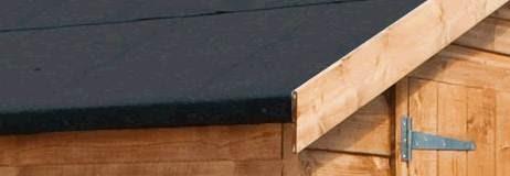 diy how to felt a shed roof. Black Bedroom Furniture Sets. Home Design Ideas